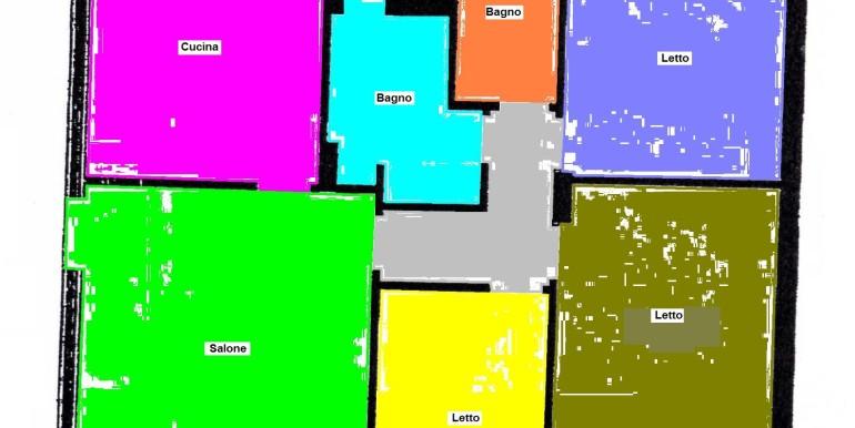 Copia Colorata di Planimetria Bianco Casagiove