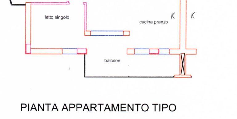 Pianta piano tipo appartamento168