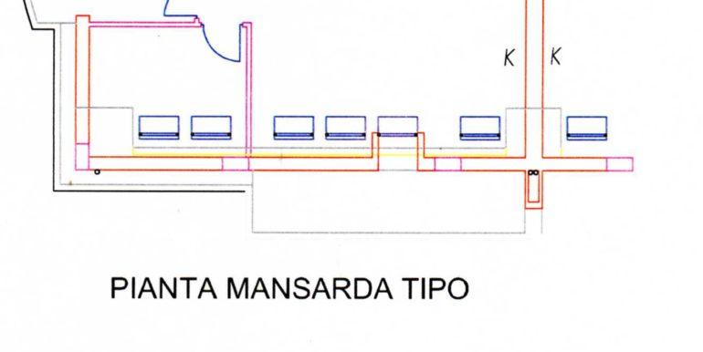 Pianta piano tipo mansarda167