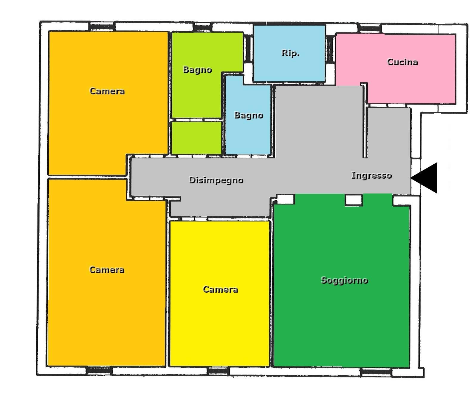 Vendesi appartamento 3 camere edilizia economica svincolo Anas